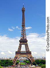 Eiffel tower from Trocadero - View of Eiffel tower from...