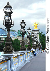 Pont Alexander III - Alexander the Third bridge in Paris,...