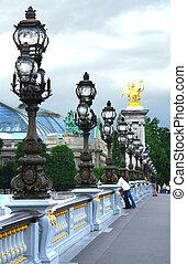 Pont Alexander III - Alexander the Third bridge in Paris,...