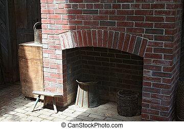 Rustic Fireplace - Rustic fireplace in small-town America