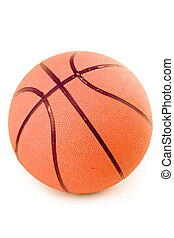 basketball with white background