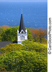 church in Mackinac island - A church in Mackinac island...