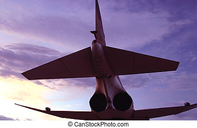 Aircraft Underbelly - The underbelly of an aircraft overhead...