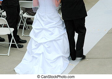 Wedding Day - Father and daughter together on her wedding...