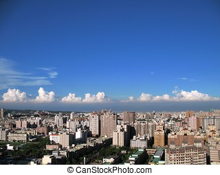 View of Kaohsiung City - -- it is the second largest city in...