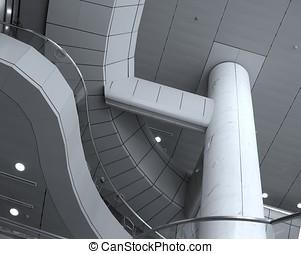 bâtiment, intérieur