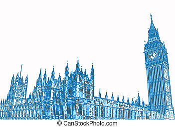 London - An illustration of London\\\'s Big Ben.