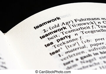 teamwork in dictionary