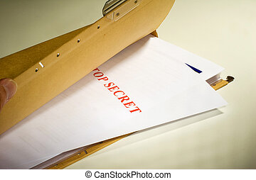 Secret Documents - Folder with Top Secret documents