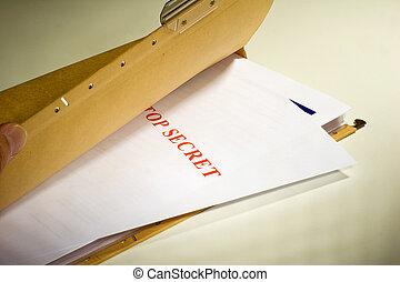 Secret Documents - Folder with Top Secret documents