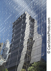 Reflexion of modern office building