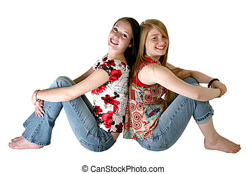 Teen Sisters - Beautiful 14 year old and 17 year old teen...