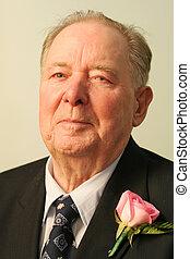 Elderly Gentleman - Well dressed elderly gentleman in suit...
