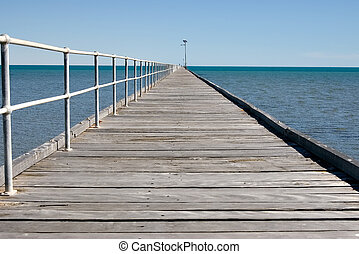 long jetty at port germein - the long jetty at port germein