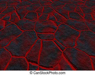 lava through the cracks