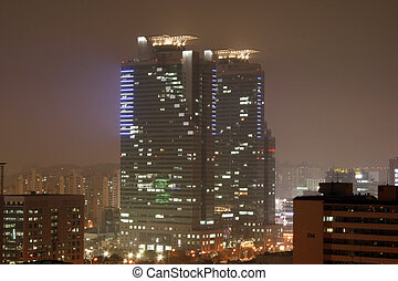 City Night View - Night view of City of anyang, Korea