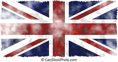 grunge uk - stained, patchy and dirty grunge flag of the...