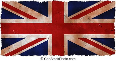 grunge uk - stained and dirty grunge flag of the United...