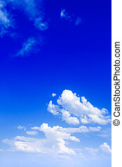 The blue sky. - The blue sky and beautiful white clouds.