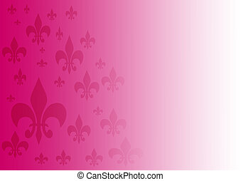 Background Fleur-de-lis - purple and white gradient...