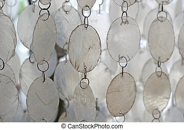 White Wind Chimes - White and silver wind chimes for...