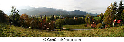 Zakopane - autumn panorama in Zakopane, Poland