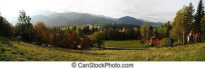 Zakopane - autumn panorama in Zakopane, Poland