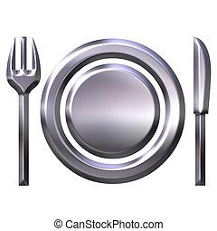 3D Silver Food Concept