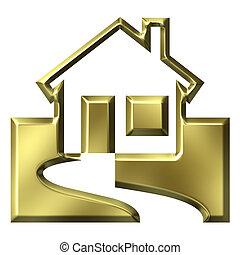 casa, valore, concetto