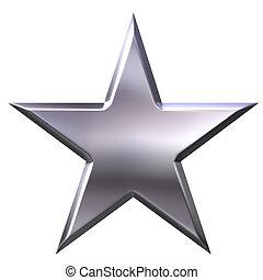 stjärna,  silver