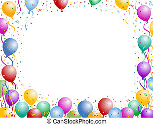 Balloons - Colorful balloons party frame