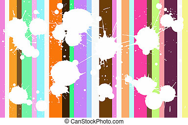 Funky Colored Splats - Funcy Background with white splats...