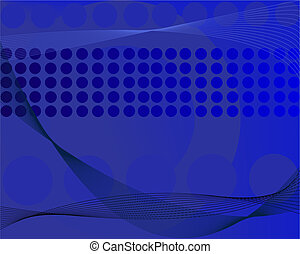 Business Graphic - Blue Grid