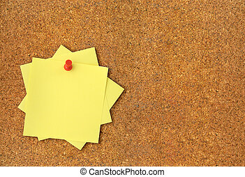 corkboard and adhesive notes XXL - close-up of corkboard and...
