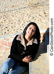 Young woman - Digital photo of a young in Montevideo.