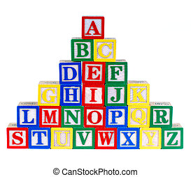 Alphabet Toy - Childrens Colorful Alphabet Building Bricks,...