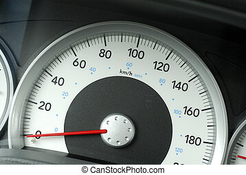 Truck Speedometer - Large Speedometer On A Truck Showing...