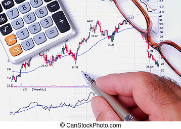 Financial Graph - Man Checking The Results Of A Stock Chart