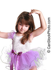 little dancer - beautiful little ballerina wearing her tu-tu...