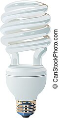 Compact Fluorescent - A vector image of a compact...