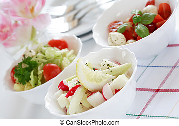 Diet food - Small salads, low calorie eating