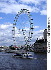 London Eye - The London Eye Millennium Wheel in the United...