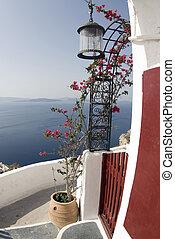 santorini view over sea