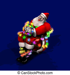 Capture the Spirit of Christmas - Santa stopped at the wrong...