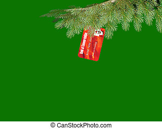 Christmas Commercialism Credit Card Ornament hanging on the...
