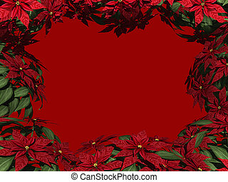 Poinsettia Border - Christmas Poinsettia Border