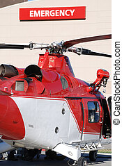 Medical Helicopter - Medical helicopter outside emergency...