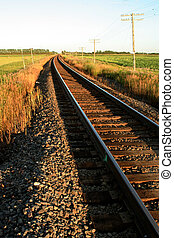 Railway Tracks - railway tracks are leading into the...