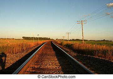 Railway tracks to distanc - railway tracks are leading into...