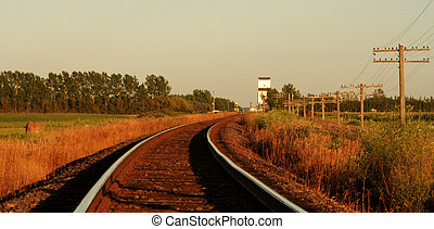 Railway Tracks to Elevato - railway tracks are leading to a...